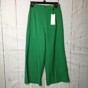Club London Womens Pants Wide Leg Green 6 NWT